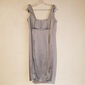 Blue Satin Calvin Klein Dress NWOT Size 4